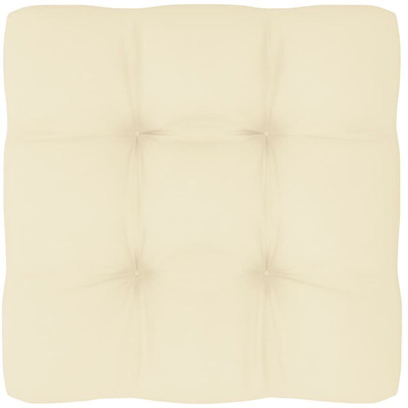 Coussin de canapé palette Crème 60x60x12 cm