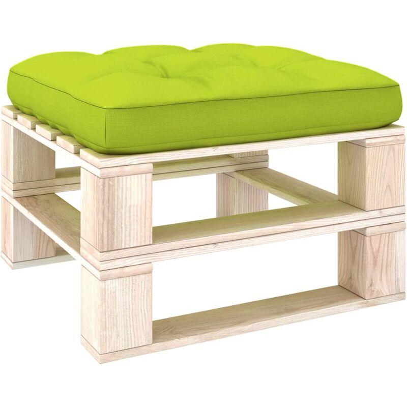 Coussin de canapé palette Vert vif 58x58x10 cm