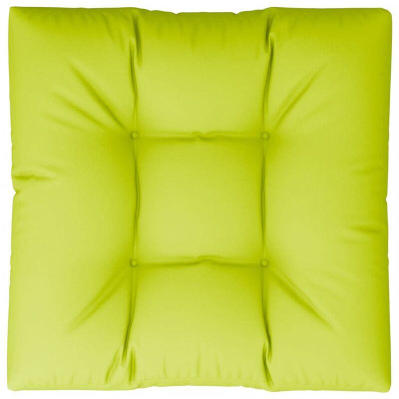 Coussin de canapé palette Vert vif 70x70x12 cm