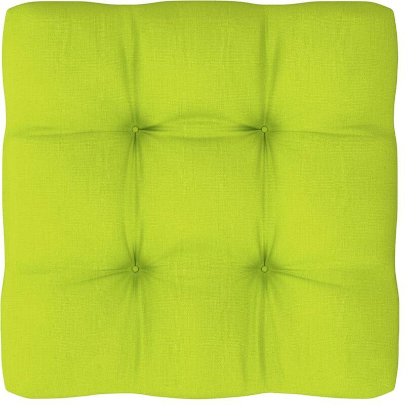 Coussin de canapé palette Vert vif 80x80x12 cm
