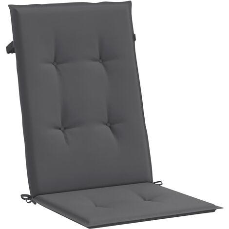 Coussin de chaise de jardin 4 pcs Anthracite 120 x 50 x 3 cm