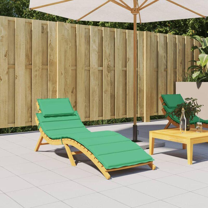 Coussin de chaise longue Vert 186x58x4 cm