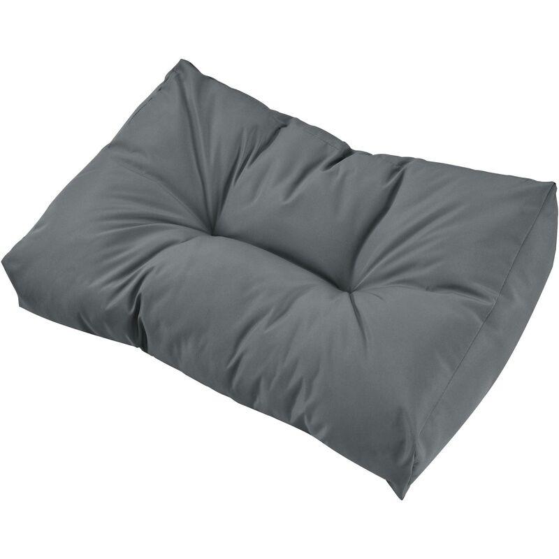 Helloshop26 - Coussin de dossier pour canapé d'euro palette rembourrage meuble gris brillant - Gris