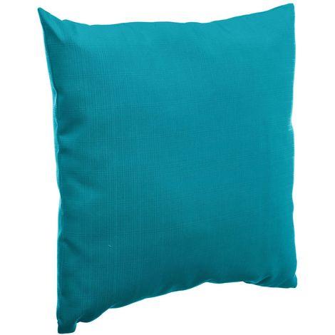 Coussin de jardin déco Korai - 40 x 40 cm - Bleu lagon - Bleu clair