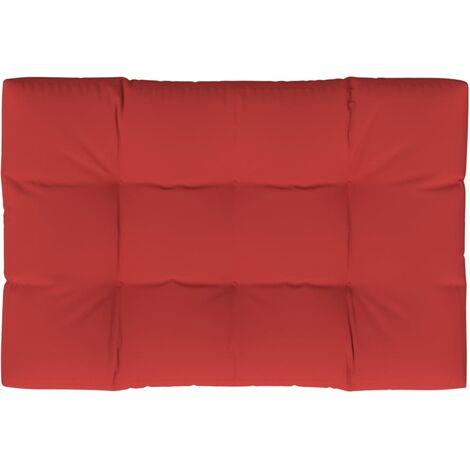 Coussin de palette Rouge 120x80x12 cm Tissu