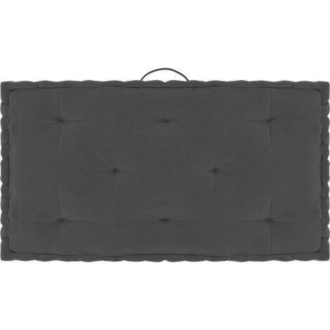 Coussin de plancher de palette Anthracite 73x40x7 cm Coton