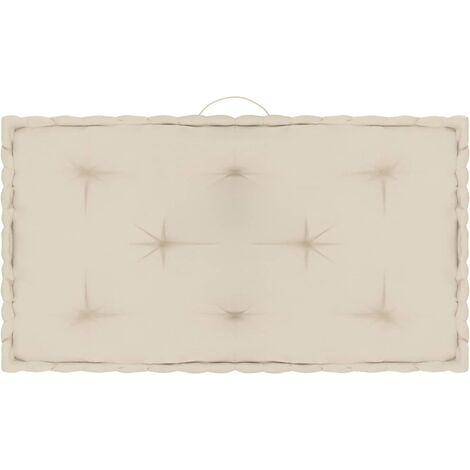 Coussin de plancher de palette Beige 73x40x7 cm Coton