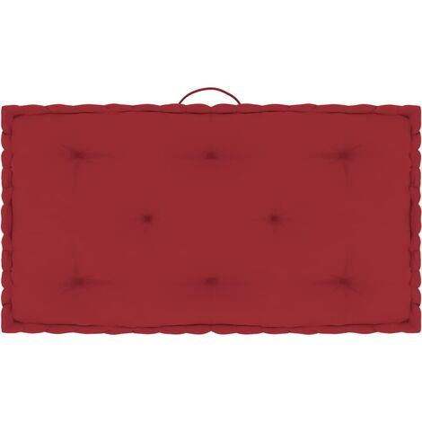 Coussin de plancher de palette Rouge bordeaux 73x40x7 cm Coton