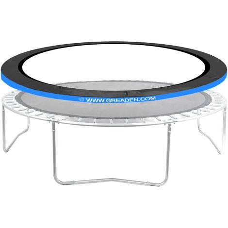 Coussin de Protection Bleu pour GREADEN Trampoline FREESTYLE Ø 14FT - 430cm, Haute qualité & Résistant aux intempéries