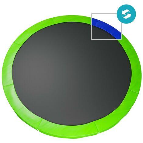 Coussin de protection des ressorts pour Trampoline 10Ft / 305 cm- Réversible Bleu / Vert - PE