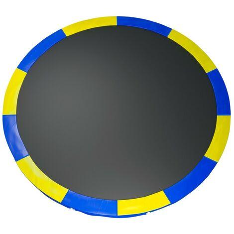 Coussin de protection des ressorts pour Trampoline 12Ft / 366 cm - Bi color Bleu / Jaune - PE