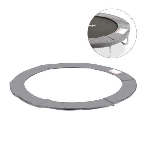 Coussin de protection des ressorts pour trampoline 182 cm Bords rembourrés PVC accessoire, anthracite