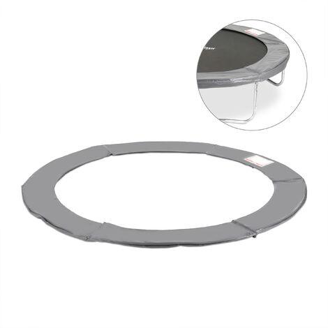 Coussin de protection des ressorts pour trampoline 244 cm Bords rembourrés PVC accessoire, anthracite