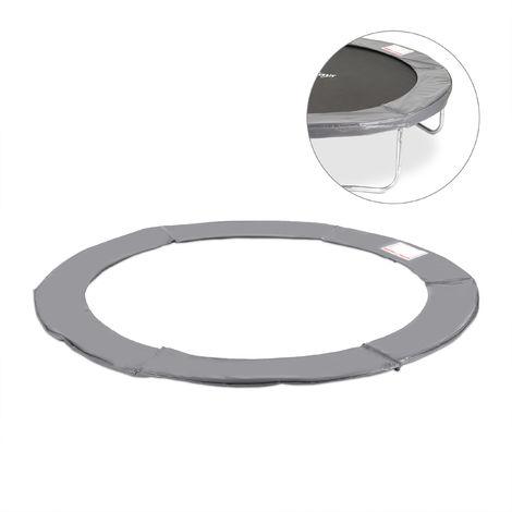 Coussin de protection des ressorts pour trampoline 366 cm Bords rembourrés PVC accessoire, anthracite