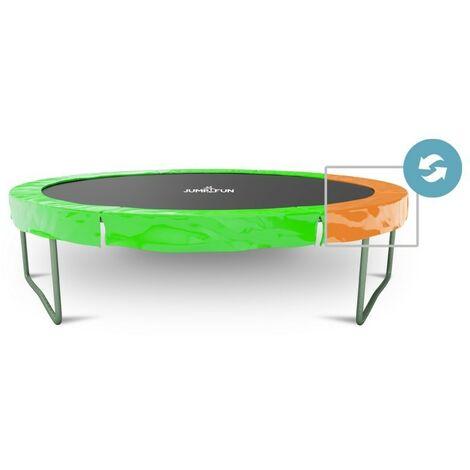Coussin de protection des ressorts pour Trampoline 6ft - ø185cm, réversible orange / vert pomme