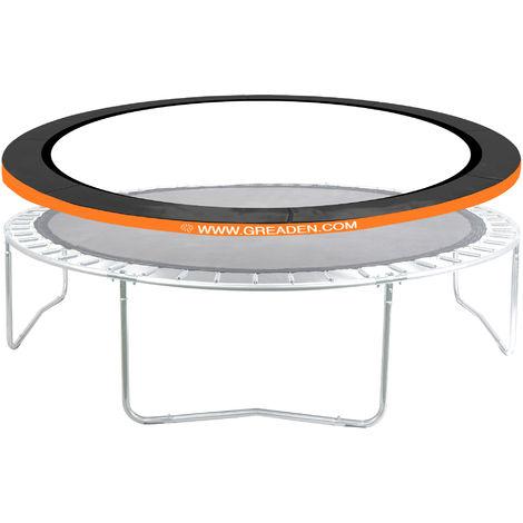 Coussin de Protection Orange pour GREADEN Trampoline FREESTYLE Ø 14FT - 430cm, Haute qualité & Résistant aux intempéries