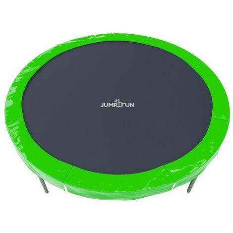 Pack : Coussin de protection universel pour Trampoline 10FT - 305cm + 8 Housses de perche - Vert pomme