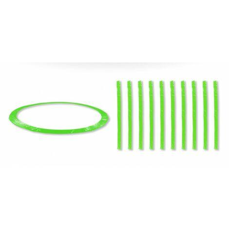 Coussin de protection universel pour Trampoline 12FT - 366cm + 10 Housses de perche - Choix Couleurs