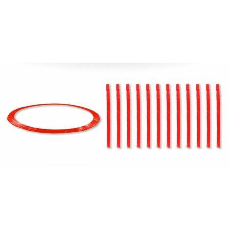 Coussin de protection universel pour Trampoline 13FT - 400cm + 12 Housses de perche - Choix Couleurs