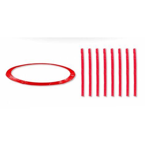 Coussin de protection universel pour Trampoline 13FT - 400cm + 8 Housses de perche - Choix Couleurs