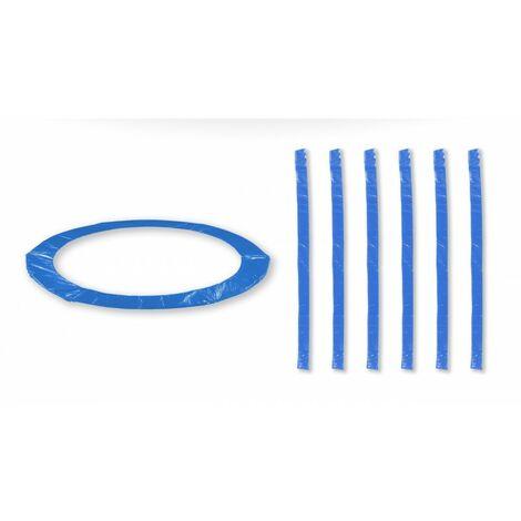 Coussin de protection universel pour Trampoline 8FT - 244cm + 6 Housses de perche - Choix Couleurs