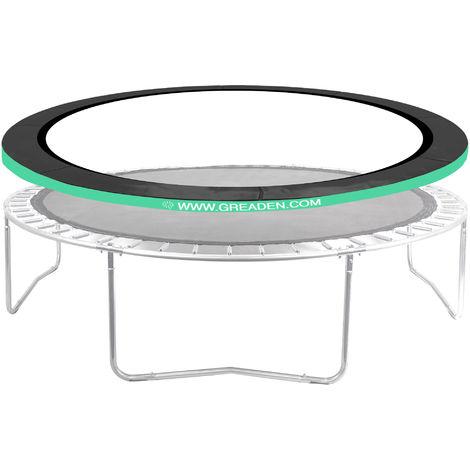 Coussin de Protection Vert pour GREADEN Trampoline FREESTYLE Ø 12FT - 366cm, Haute qualité & Résistant aux intempéries