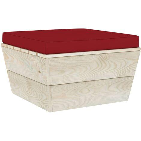Coussin de repose-pied palette Rouge bordeaux Tissu
