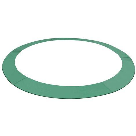 Coussin de sécurité PE Vert de trampoline rond de 3,96 m