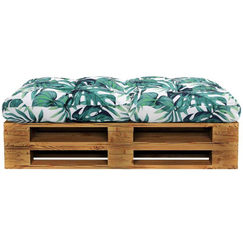 Coussin de siège de jardin imperméable 100 % polyester vert 120x80x10 cm - vert