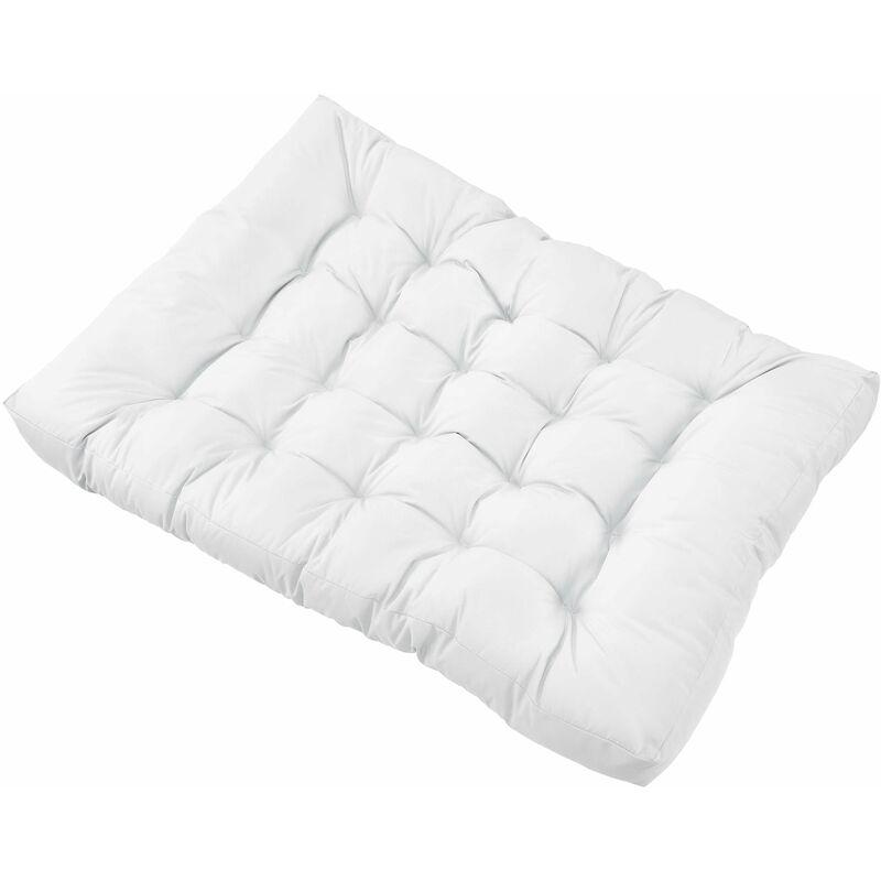 Helloshop26 - Coussin de siège pour canapé d'euro palette rembourrage meuble blanc - Blanc