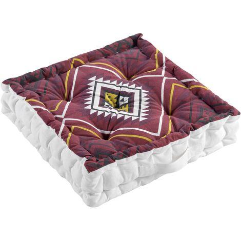 coussin de sol 45 x 45 x 10 cm coton imprime neo berbere