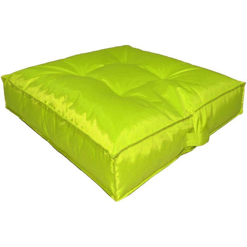 Coussin de sol intérieur extérieur coloré vert anis - Vert anis