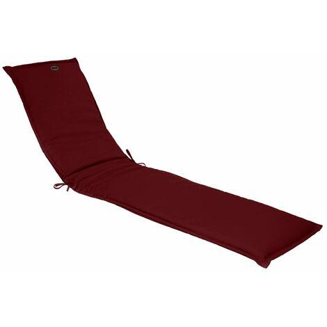 Coussin de transat Korai 190x60 cm Bordeaux - Rouge