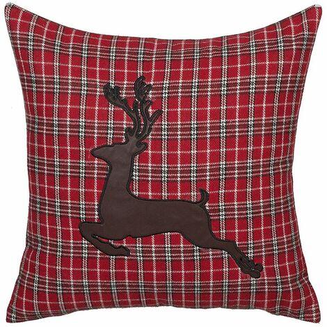 Coussin décoratif à motif de renne 45 x 45 cm