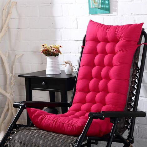 Coussin épais chaud doux de chaise ber?ante de 160x48cm extérieur pour le siège de soleil de chaise de plage