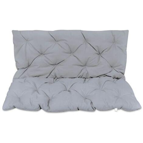 Coussin gris pour balancelle 120 cm