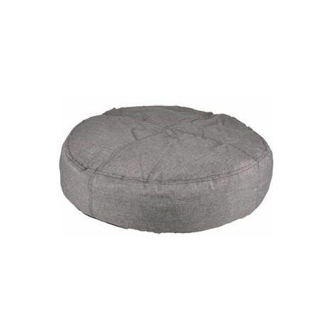 Coussin karpaten rond+fermeture eclair gris 70cm