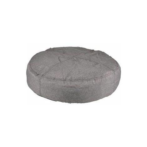 Coussin karpaten rond+fermeture eclair gris 90cm