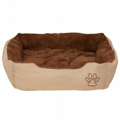 Coussin lit panier matelas pour chien 80 x 60 x 18 cm