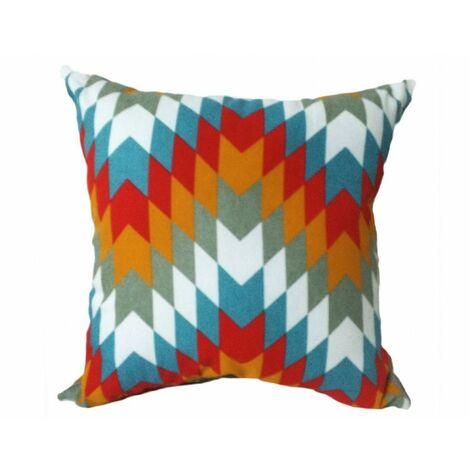 Coussin motif chevrons 45*45 - CARNAVAL - Multicolore