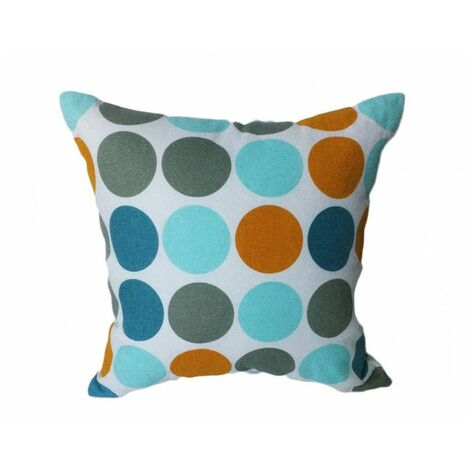Coussin motif seventies 45*45 - CIRCLE - Multicolore