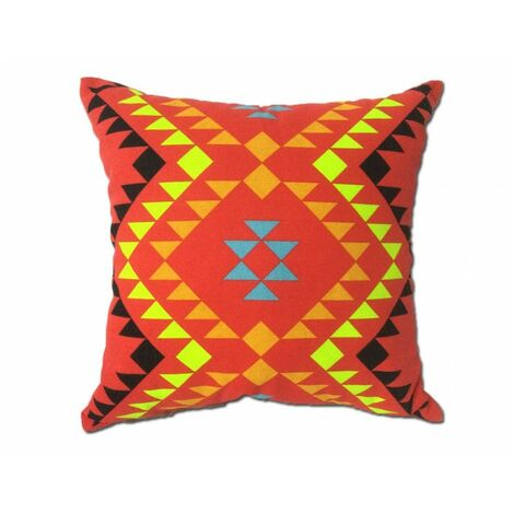 Coussin motif tribal rouge 45*45 - TRIBE - Rouge