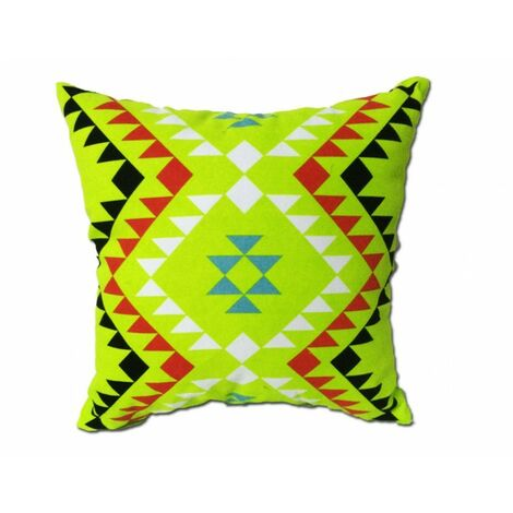 Coussin motif tribal vert 45*45 - TRIBE - Vert