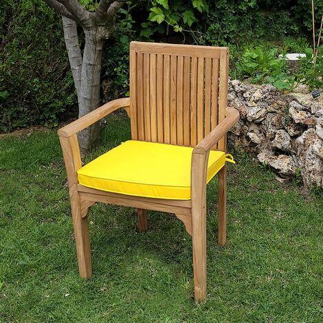 Coussin moutarde pour fauteuils fixes - Jaune