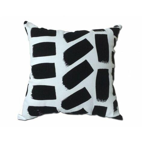 Coussin noir et blanc 45*45 - RECTANGLE - Noir