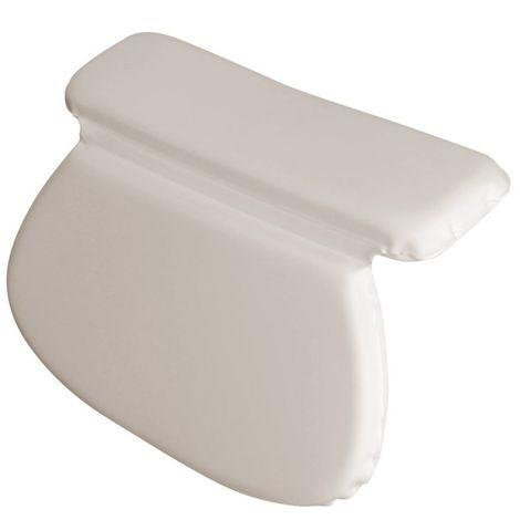 Coussin, oreiller de bain avec ventouses pour baignoire, Spa, Jacuzzi - Blanc - Vivezen