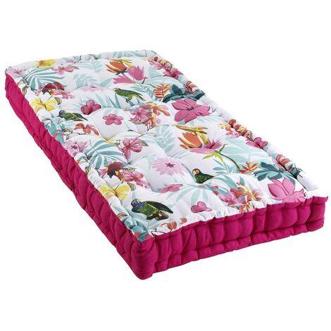 Coussin palette 60x120 cm Exotic Paradise coton - Rose