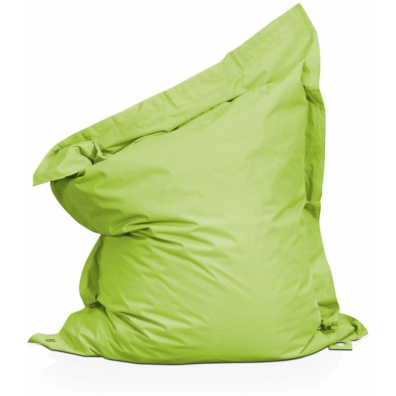 Pouf XL coussin imperméable Vert - Vert - Solys