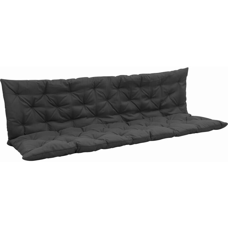 Coussin pour balancelle résistant aux intempéries anthracite polyester 180 cm - noir