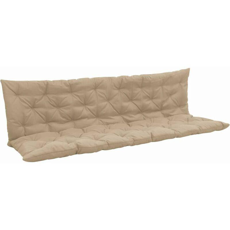 Coussin pour balancelle résistant aux intempéries polyester beige 180 cm - Beige